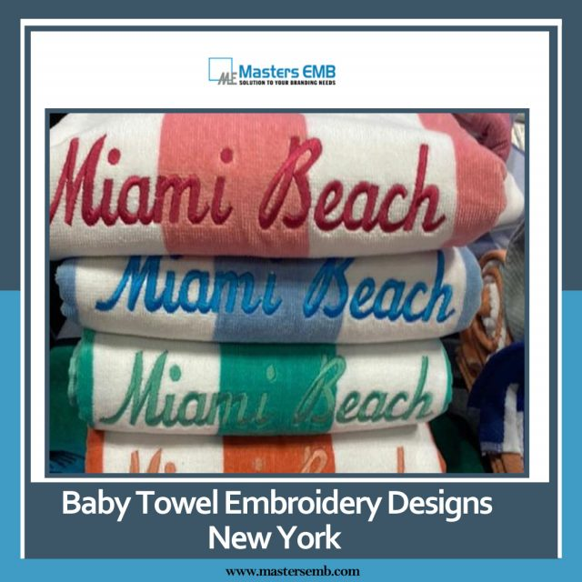 baby towel embroidery designs New York